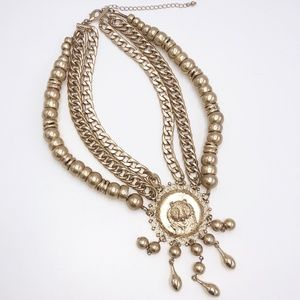 Free People Lion Head Statement Necklace